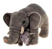 Elephant With Baby Plush Stuffed Animal 12