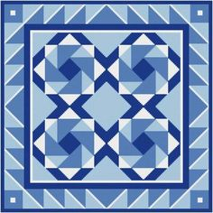 Center of Attention - cross stitch pattern designed by Susan Saltzgiver. Category: Quilts.