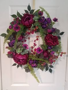 Excited to share the latest addition to my #etsy shop: Peonies,Spring wreath,wreaths for front door,Spring wreaths for front door,Front door wreath,wall art,Front door decor,vintage,succulents https://etsy.me/2JA2EIR