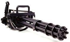 The famous mini gun! This sexy beast is capable of firing rounds at a rate of 2,000 to 6,000 rounds per minute. That's simply AMAZING!!!