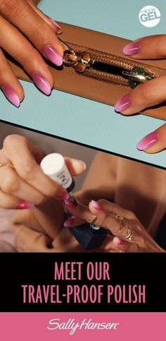 Get the high shine and glossy look of a salon manicure at home. Miracle Gel is more chip- resistant than regular polish, so it's absolutely travel-proof. Learn more about Miracle Gel™ 2-step formula at sallyhansen.com