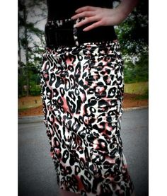 High waist Leopard Print Pencil-$25.00