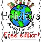 This free file contains the 8 countries included in my Christmas Around the World PowerPoint and flippy book packs found here. This free file has scrapbook pages for Holidays In America, Holidays Around The World, Around The Worlds, School Holidays, School Fun, School Stuff, School Ideas, Christmas Activities, Christmas Traditions