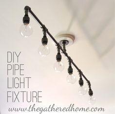 DIY Plumbing Pipe Light Fixture-