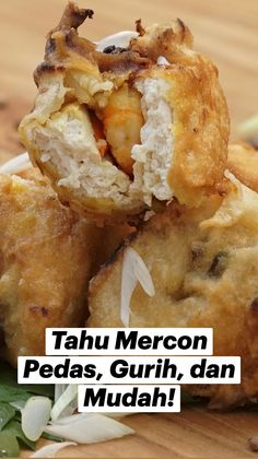Tofu Recipes, Spicy Recipes, Clean Recipes, Cooking Recipes, Spicy Appetizers, Savory Snacks, Worst Cooks, Indonesian Food, No Cook Meals