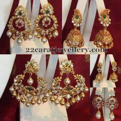 Jewellery Designs: Unique Earrings by Shree Jewellers