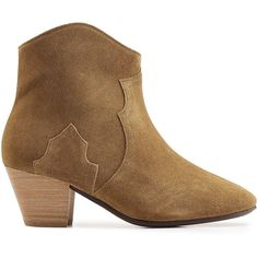 Isabel Marant Suede Ankle Boots (10 700 UAH) ❤ liked on Polyvore featuring shoes, boots, ankle booties, suede ankle boots, short boots, suede boots, suede ankle booties and tan ankle boots
