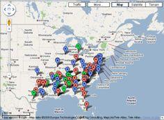 Map of Historically Black Colleges Universities (HBCU) College Years, State College, College Life, Hampton University, Howard University, State University, Spelman College, School Daze, Interactive Map