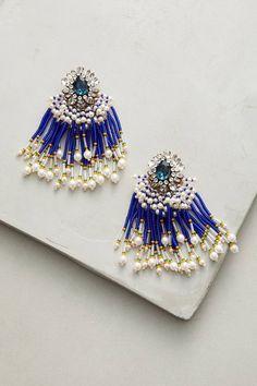 Slide View: 1: Cobalt Cascade Drop Earrings
