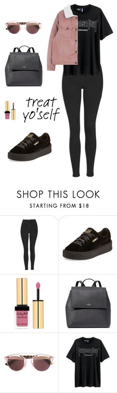 """Yourself"" by namelessele ❤ liked on Polyvore featuring Topshop, Puma, Yves Saint Laurent, Kate Spade, Christian Dior and H&M"