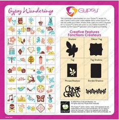 Jilliene Designing: Comprehensive Overview of the preloaded Gypsy Cartridge, Gypsy Wanderings for the Cricut