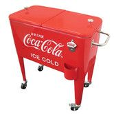 Found it at Wayfair - 60 Qt. Coca-Cola Ice Cold Heavy Duty Rolling Cooler