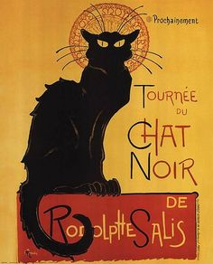 "Théophile Steinlen's 1896 poster advertising a tour to other cities (""coming…"