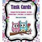 Students will complete the task cards on comparing numbers.  Students will decide if the numbers are greater than >, less than <, or equal to = another number.  Numbers only go into the hundreds.  No task card includes numbers in the thousands.  The task cards can be used as a review of comparing two numbers.