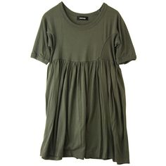 タンボマチャイジャージィ ($180) ❤ liked on Polyvore featuring dresses, tops, vestidos, green and zucca