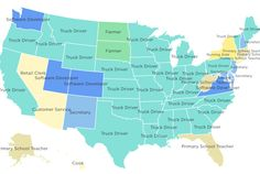 The Most Common Job in Each State | Mental Floss