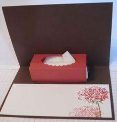 In My Craft Room: Fancy Fold 3D Kleenex Card http://glendamollet.blogspot.com/2013/06/fancy-fold-3d-kleenex-card.html