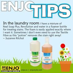 ENJO's answer to stubborn stains. How To Remove, How To Apply, Doterra, Stains, Personal Care, Cleaning, Bottle, Personal Hygiene, Flask