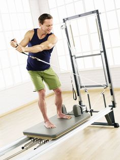 Improve your golf swing with our V2Max reformer.