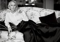 """VOGUE MAGAZINE: Helen Mirren in """"Great Dame"""" by Photographer Mikael Jansson"""