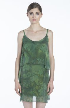 Perfect for outdoor concerts or late night cocktail events, our Green Layered Silk Dress is so light and comfortable, you'll forget you have it on, but you won't forget how good you look!