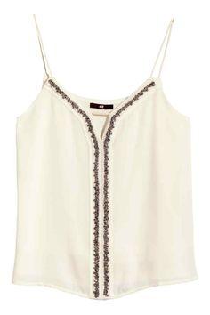 Top brodé de perles fantaisie | H&M