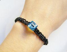 Aquamarine Blue Swarovski Crystal Bead by LadyRebelDesigns on Etsy, $20.00