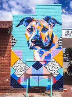 Painting With Brights Colors and Bold Strokes by Anya Brock Murals Street Art, Graffiti Art, Yarn Bombing, Pop Art, Urbane Kunst, Dog Rooms, Amazing Street Art, Mural Wall Art, Neon