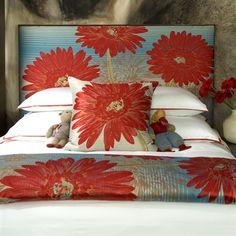 Ann Gish Flower Power Throw Blanket #home decor sale & deals Flower Power Color:Turquoise Flower Power Throw Blanket Bright floral jacquard makes this throw a standout home accent. Throw blanket only; coordinati...
