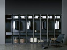 Armario vestidor STORAGE Colección Storage by Porro | diseño Piero Lissoni, Centro Ricerche Porro