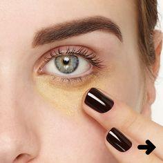 Aprenda a usar o corretivo amarelo corretamente com essas dicas! #corretivo #maquiagem #make