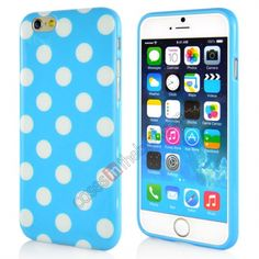 White Polka Dot Pattern Soft Gel TPU Back Case Cover for iPhone 6 4.7 Inch - c6c523ea7fb8