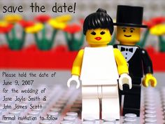 Lego Wedding - save the date card