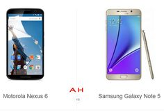Phone Comparisons: Motorola Nexus 6 vs Samsung Galaxy Note 5