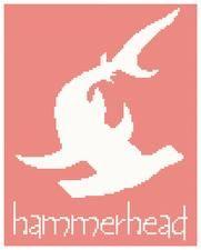 hammerhead shark cross stitch pattern, sea life