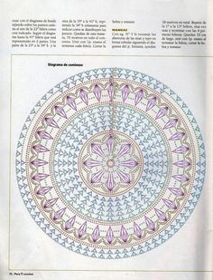 LOVE. actually part of pattern for a jacket. could use this for a mat or doily Patrones Crochet: Bolero Tejido en Circulo Patron or rug :-}