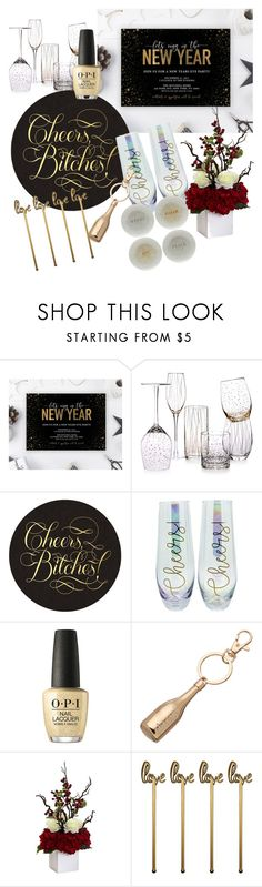 """""""Cheers"""" by heidibartholdy on Polyvore featuring Mikasa, TMD, LC Lauren Conrad and Nearly Natural"""