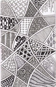zentangles-Sammlung