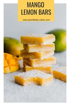 Mango Lemon Bars Rec