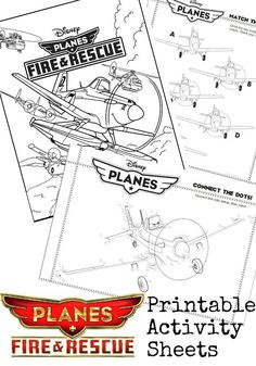 Disney Planes 2 Printable Activity Sheets - In The Playroom