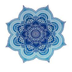 My shop: Indian Round Mandala Tapestry Wall Hanging Beach Throw Blue Lotus Flower Yoga Mat Boho Decor Round Yoga Mat 56 Inches Mandala Au Crochet, Crochet Puff Flower, Mandala Tapestry, Crochet Cactus, Tapestry Crochet, Crochet Flowers, Lotus Flower Mandala, Blue Lotus Flower, Rose Flowers