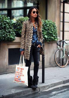 jacket, outfit, leopard prints, coat, spot