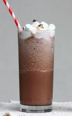 Serendipity Inspired Frozen Hot Chocolate from acozykitchen.com