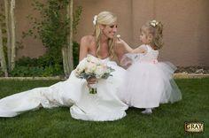 Pink & Gray, girlie wedding Outdoors Villa Parker Wedding June Summer Boutineer Courtyard