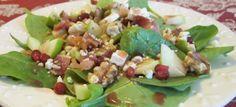 σαλάτα με σπανάκι, ροδι, μπέικον, ροκφορ Potato Salad, Dips, Salads, Potatoes, Ethnic Recipes, Food, Sauces, Potato, Essen