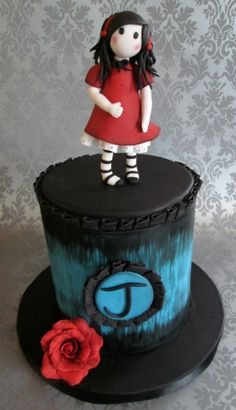 Gorjuss (artist Suzanne Woolcott) cake
