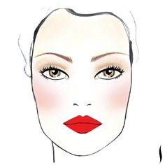 Everyone can wear red. just find the right one. PRO Tip: When wearing a bold lip, apply your blush AFTER your lipstick—not before. It'll keep you from going overboard on the rouge. All Things Beauty, Beauty Make Up, My Beauty, Beauty Hacks, Hair Beauty, Beauty Tips, Love Makeup, Makeup Tips, Makeup Looks