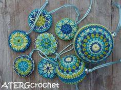 Crochet Bunting, Crochet Garland, Crochet Ornaments, Crochet Decoration, Appliques Au Crochet, Crochet Motif, Crochet Doilies, Crochet Stitches, Crochet Home