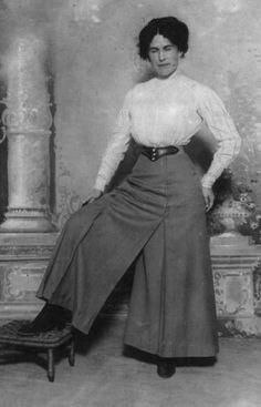 "FASHION: ""Woman's Pants"" or Pantaloons, c 1910s"