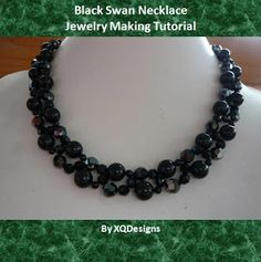 Jewelry Making Tutorials  Learn How To Make Jewelry - Beading & Wire Jewelry Classes : FREE Black Swan Necklace Jewelry Making Tutorial!!!